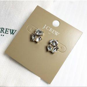 J. Crew Crystal Trio Earrings